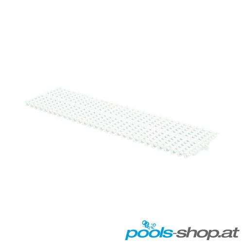 Überlaufrinnen Gitterstab Polypropylen. Weiß