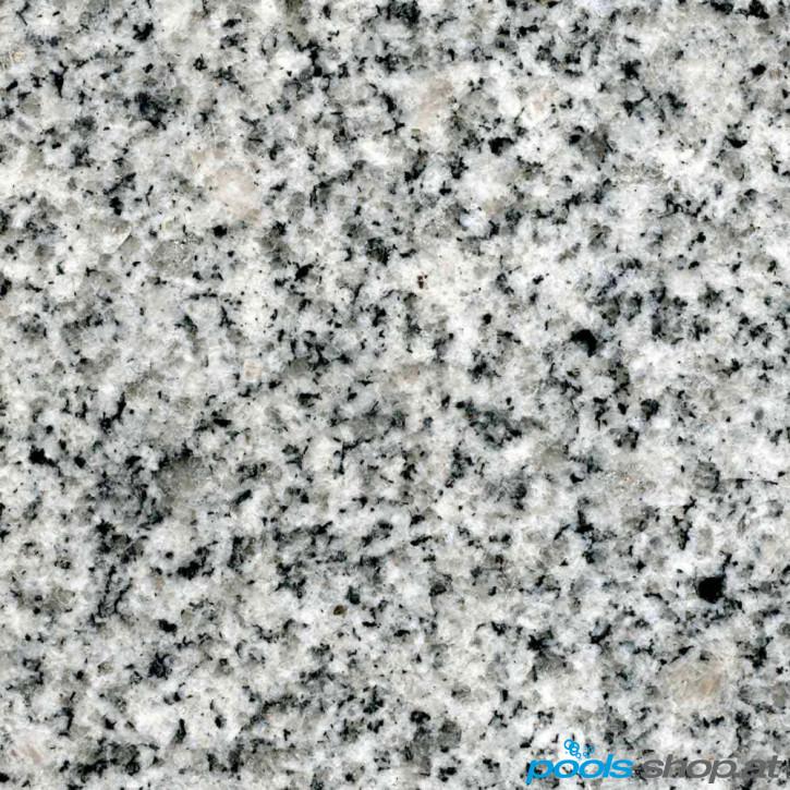 Schwimmbadumrandung aus Granit Crystal Grey 10x5m