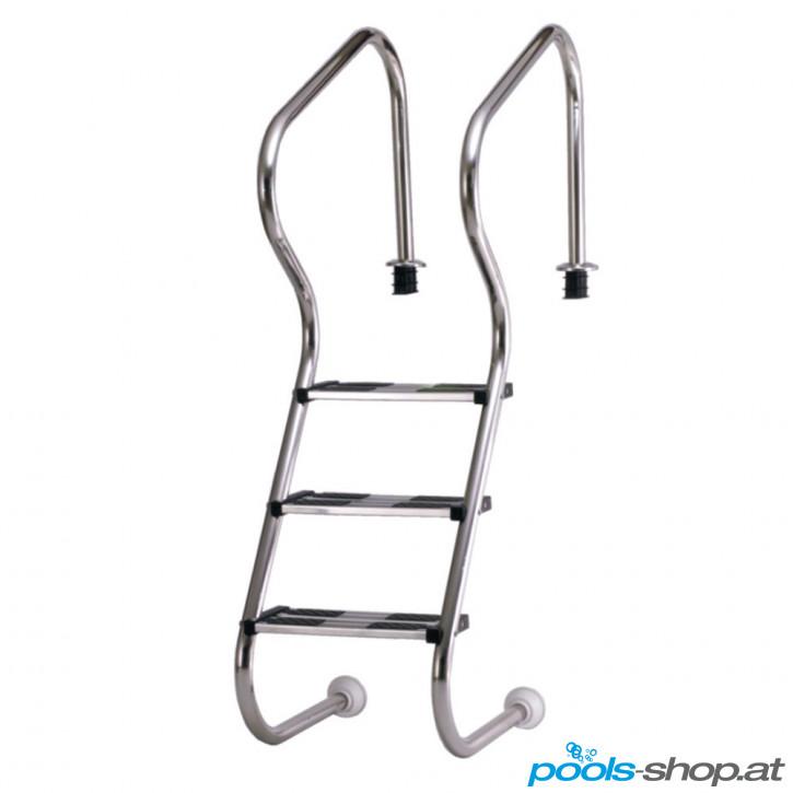 Edelstahl - Treppenleiter V4A, 3-stufig