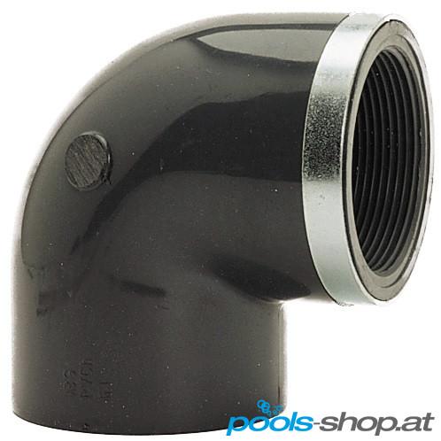 PVC Winkel 90° verstärkt Klebemuffe x Innengewinde