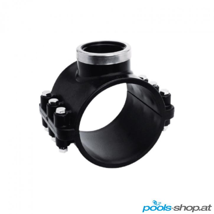 """PVC Anbohrschelle d63 x 1/2"""" PN16"""