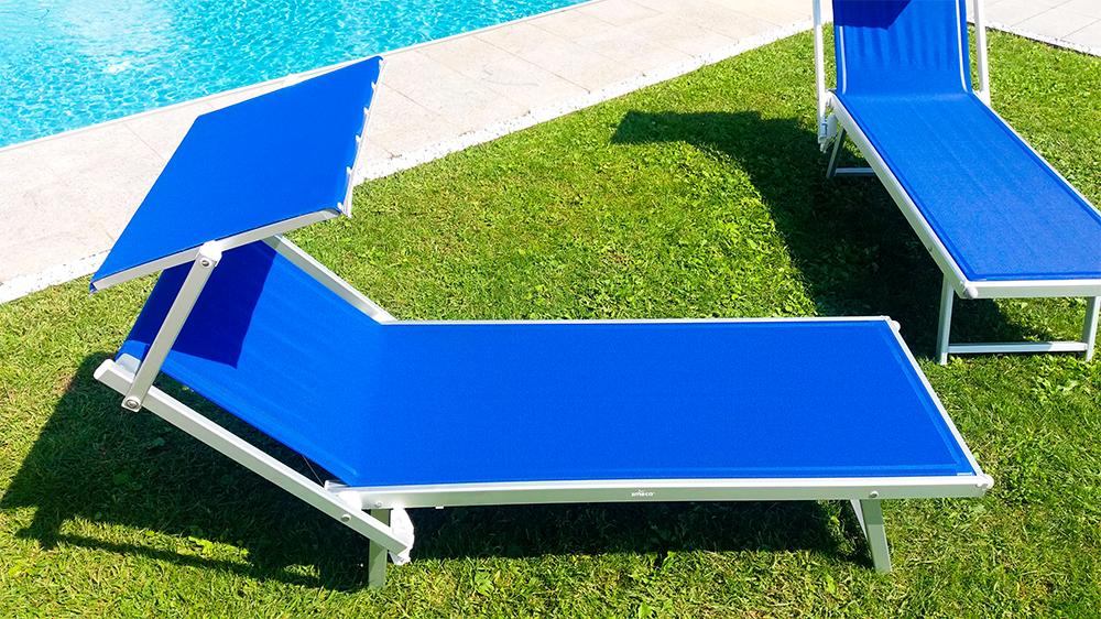 Liegestuhl Relax Blau 11781