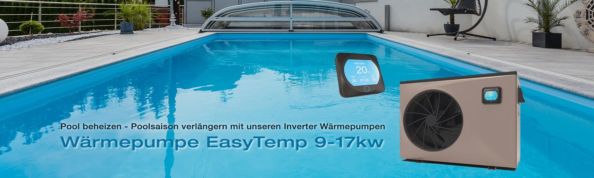 poolheizung waermepumpe hayward easytemp inverter