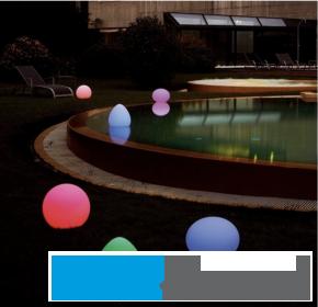 """Schwimmende LED-Leuchte """"Peach"""""""