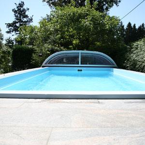 Pool Stahlmantelbecken